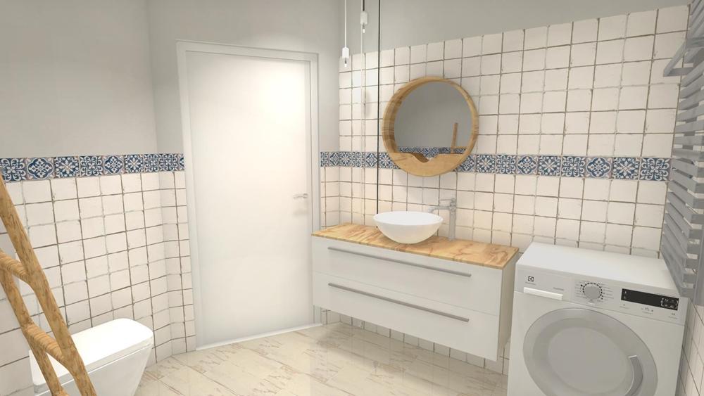 Umywalka nablatowa w małej łazience