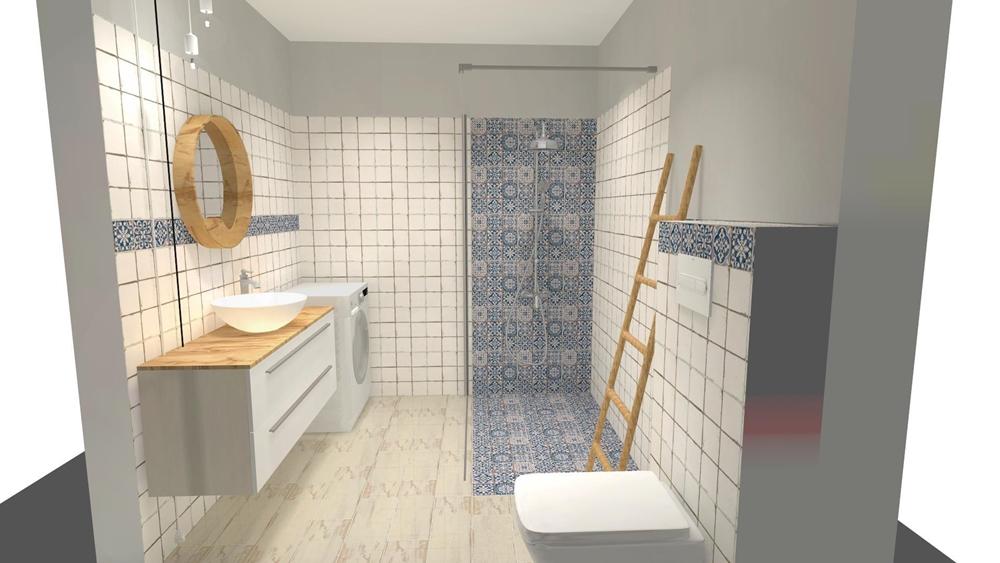 Niewielka łazienka z kabiną typu walk-in