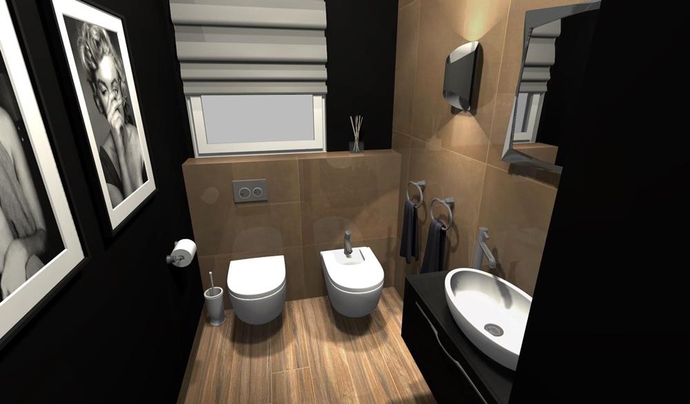 Łazienka z czernią