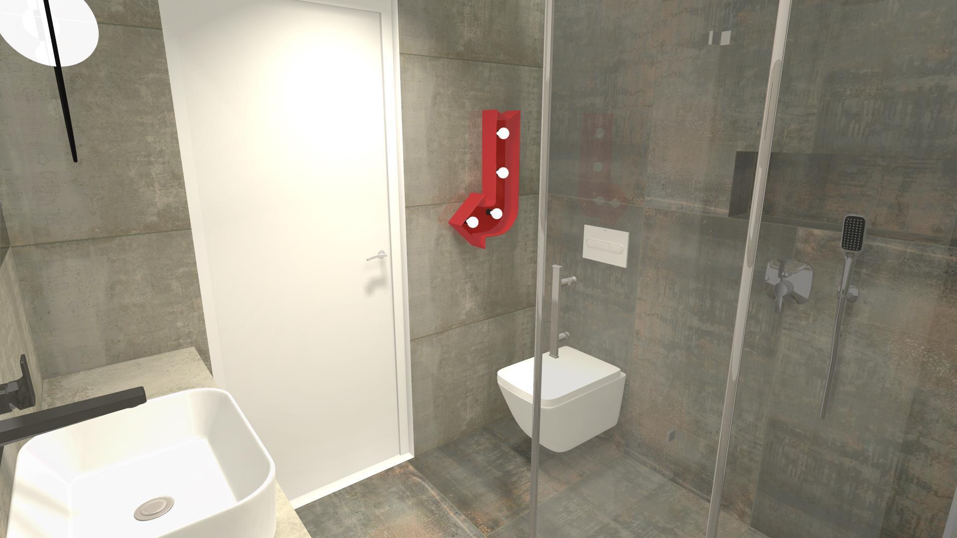 Nowoczesny kinkiet w łazience
