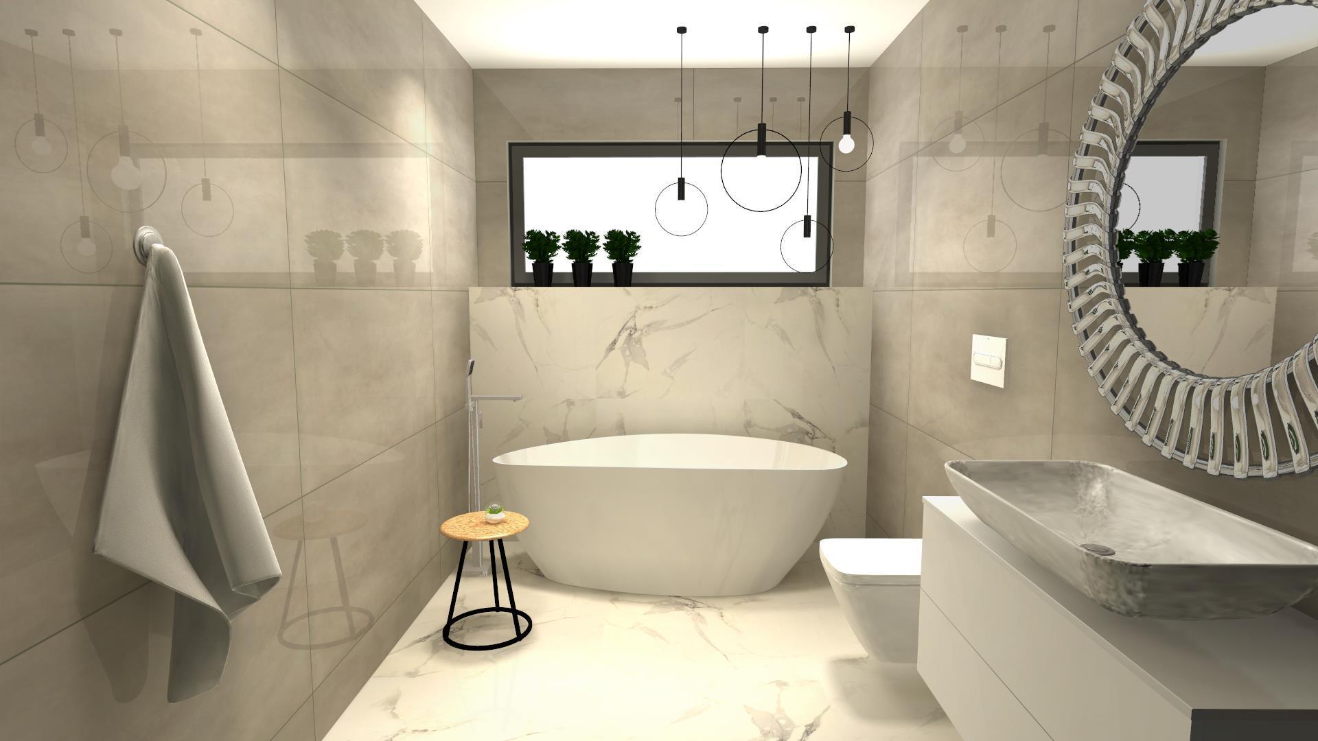 Płytki marmurowe w łazience