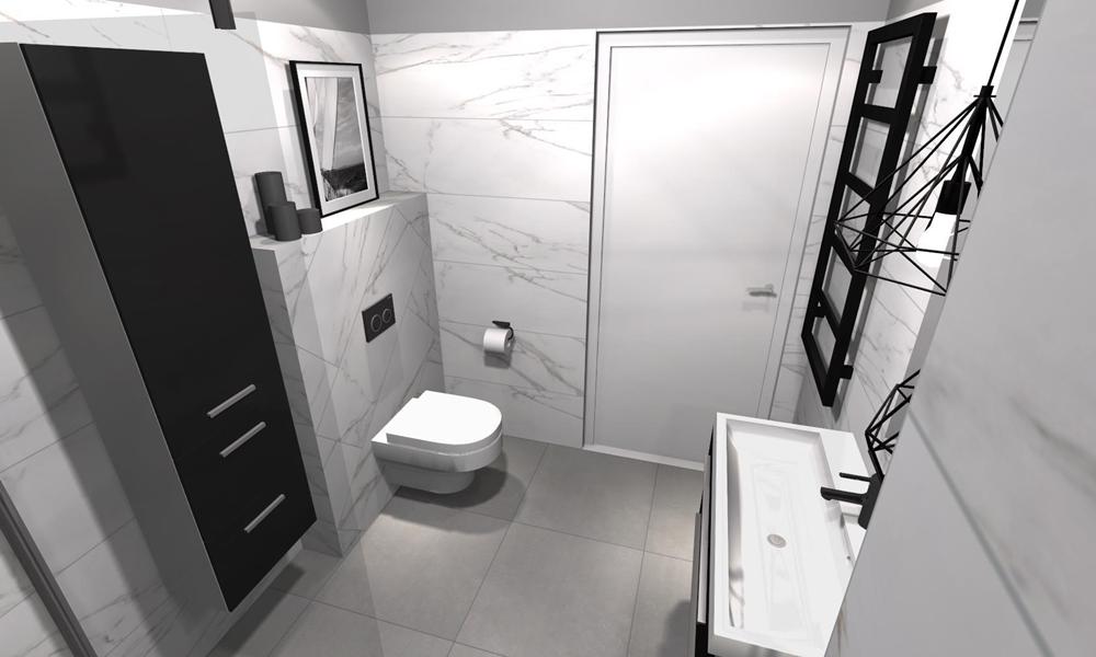 Czarne dodatki w łazience