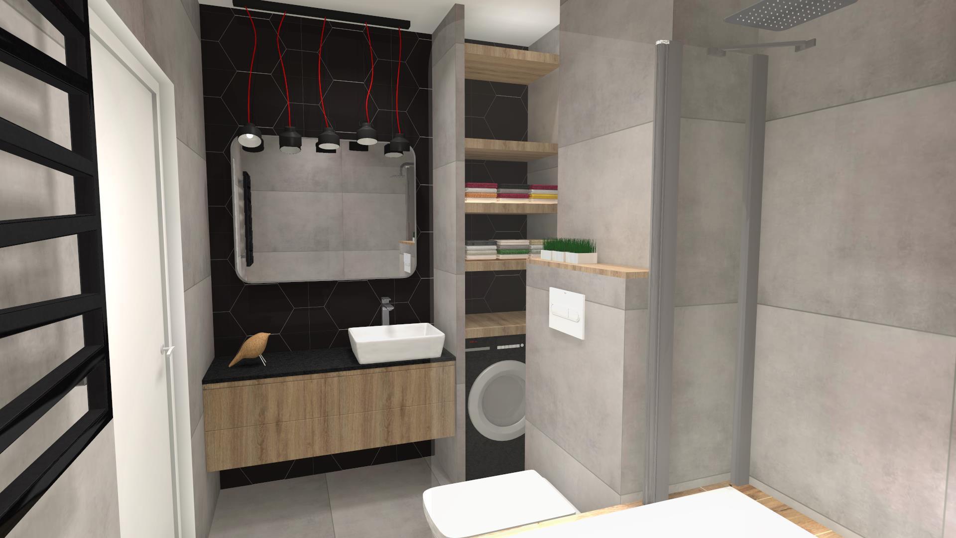Łazienka z pralką
