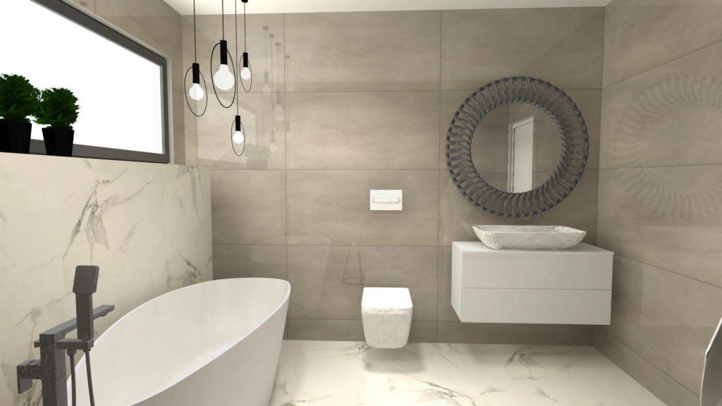 Lustro glamour w łazience