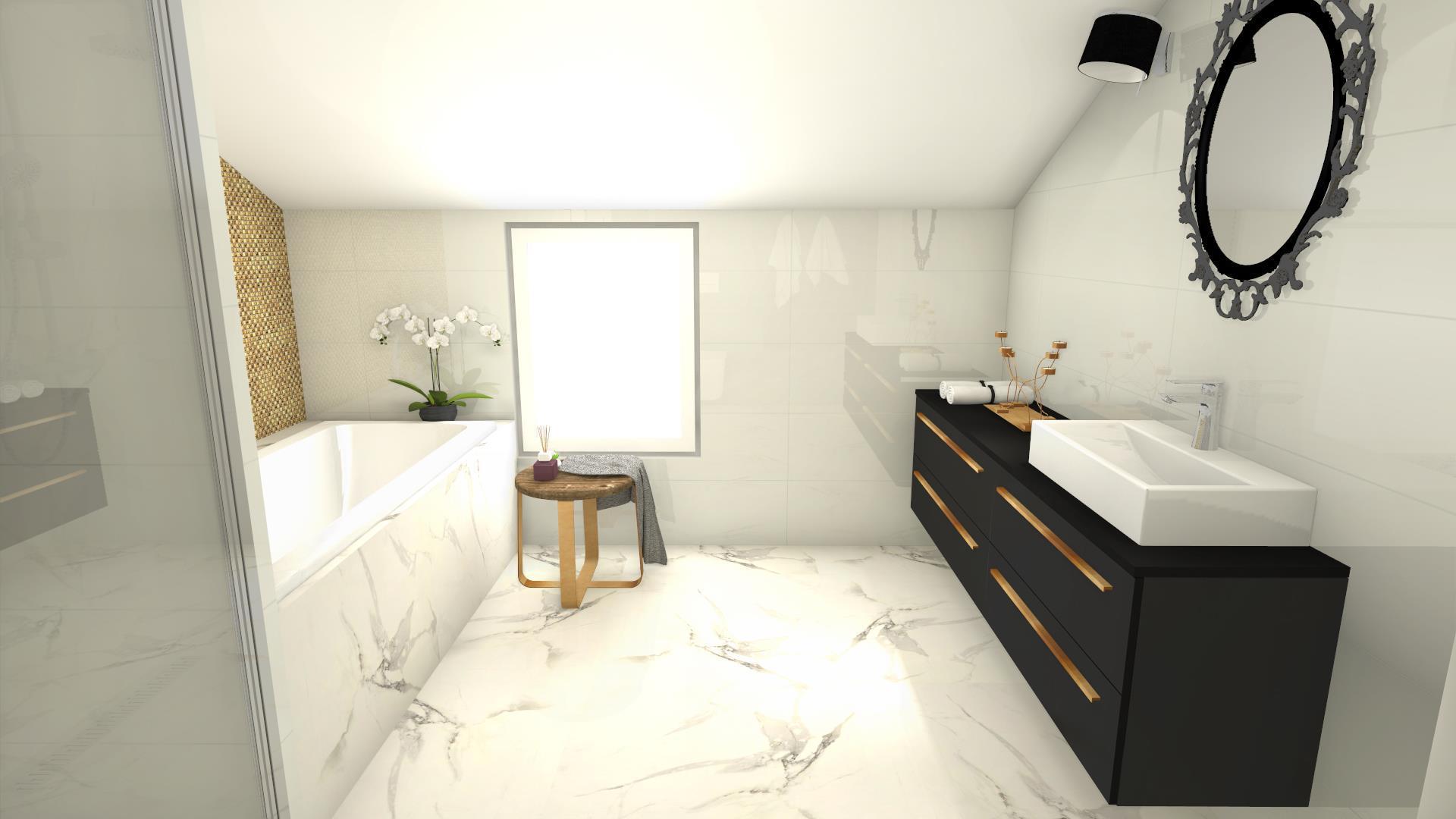Czarna szafka w łazience