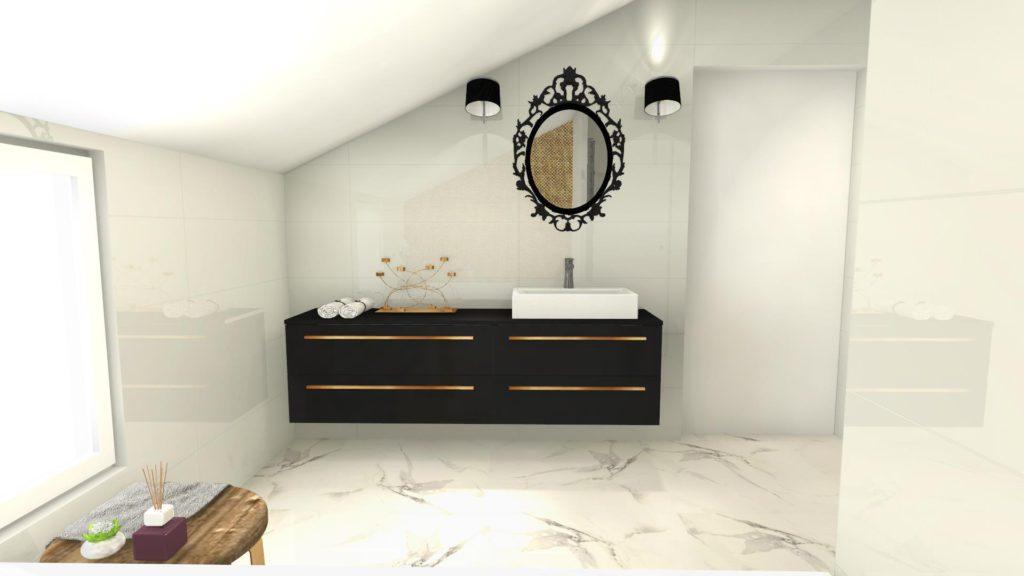 Marmur w łazience glamour