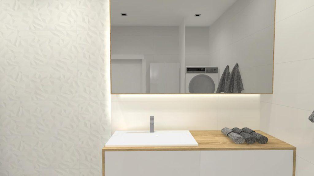 Lustrzana szafka nad umywalką