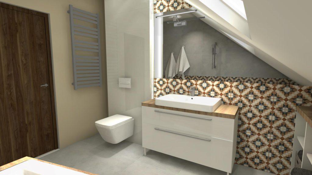 Farba na ścianie w łazience