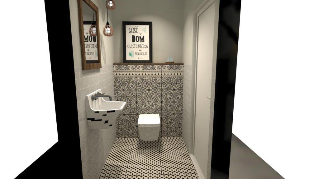 Wzory w małej łazience