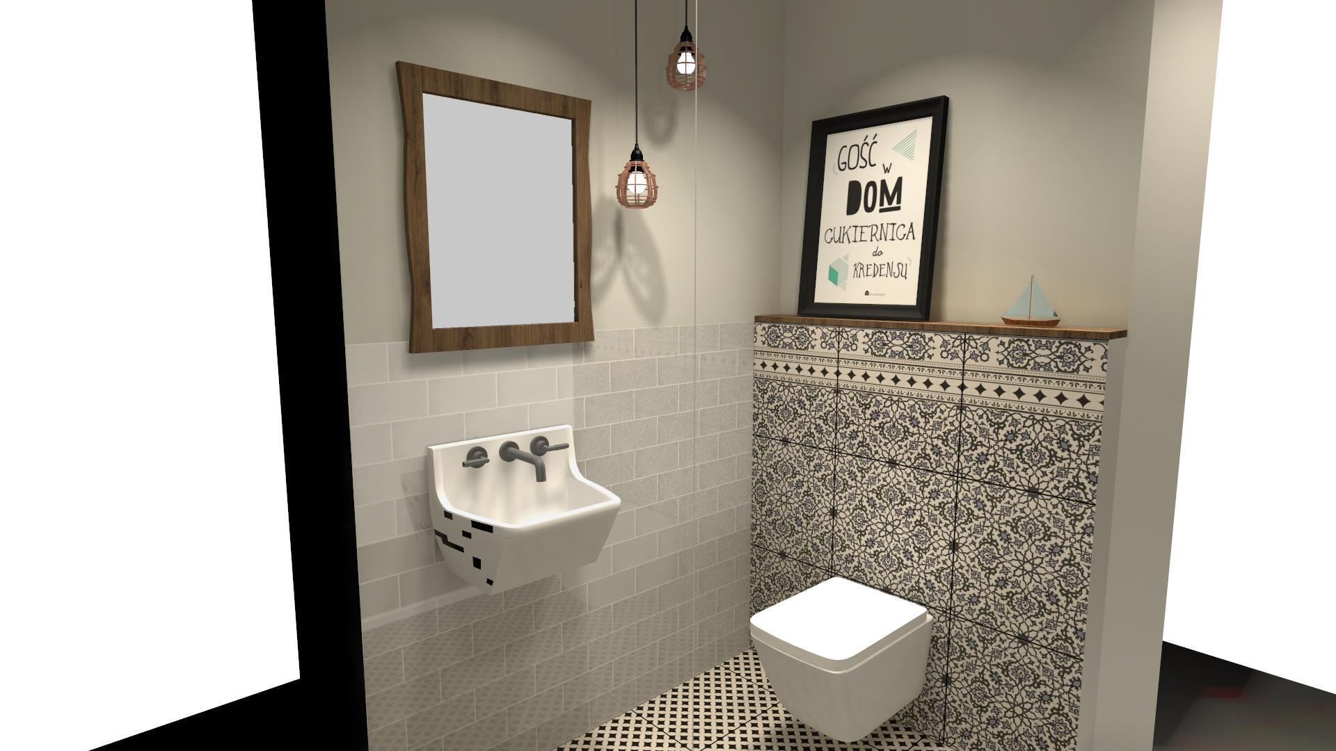 Płytki cegiełkiw łazience