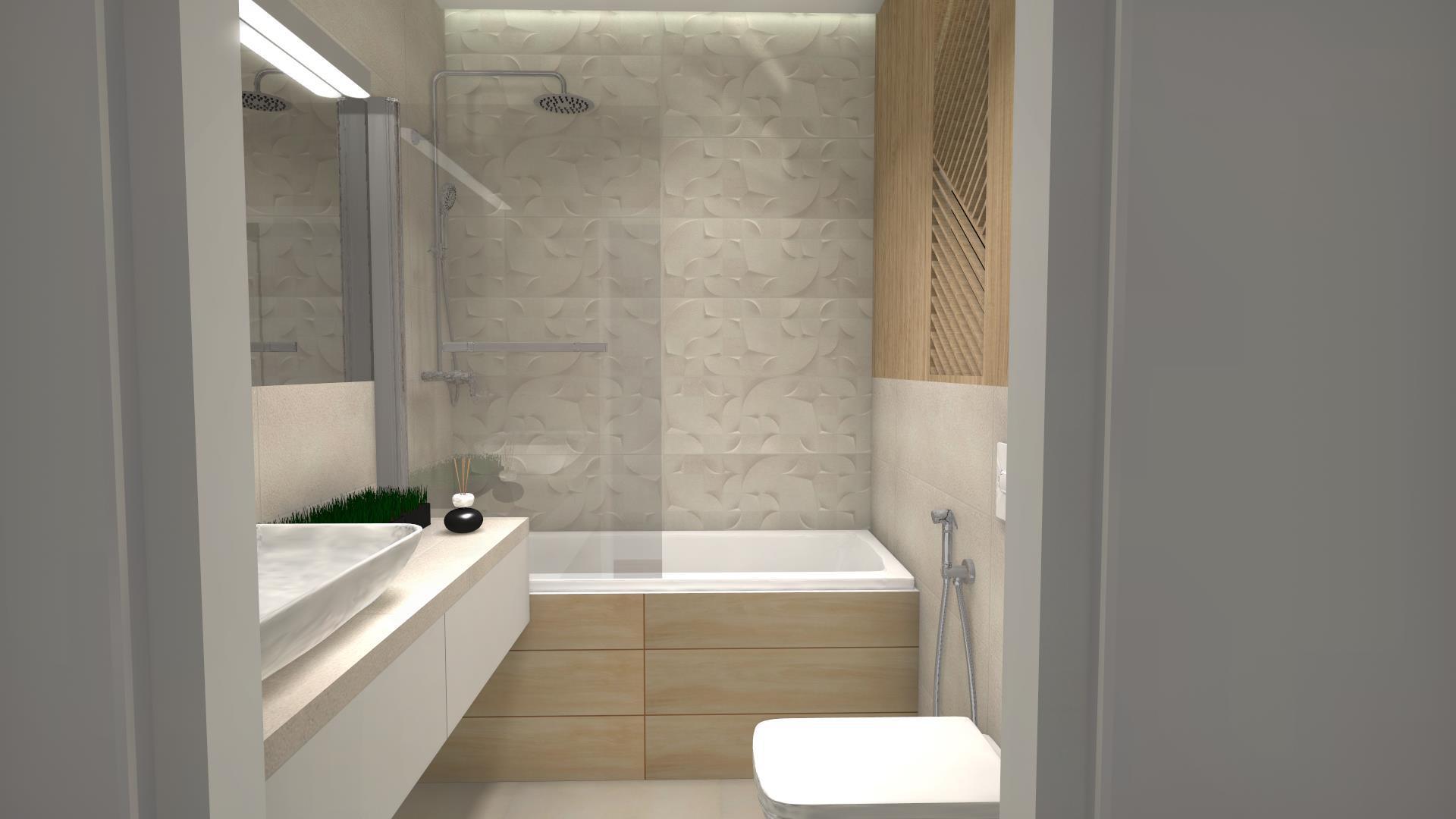 Płytki 3D w łazience
